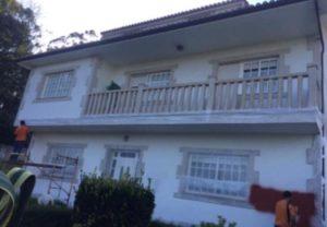 Rehabilitación de fachadas con corcho proyectado